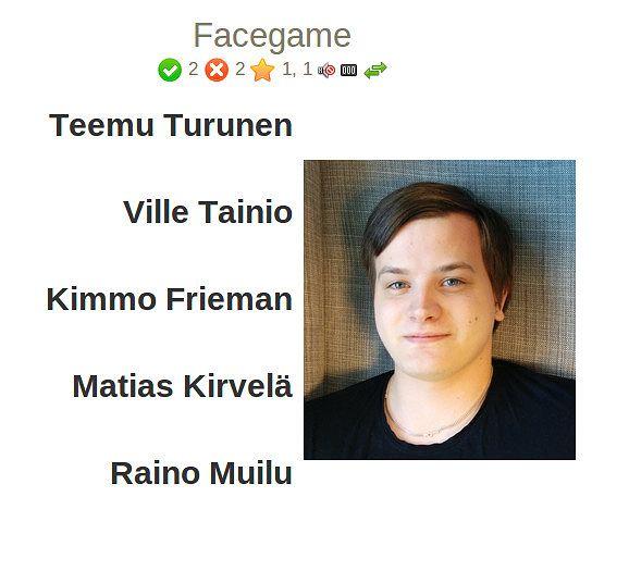 Screenshot of Facegame