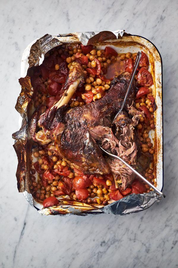 pics Slow Roast Greek-style Leg of Lamb Recipe