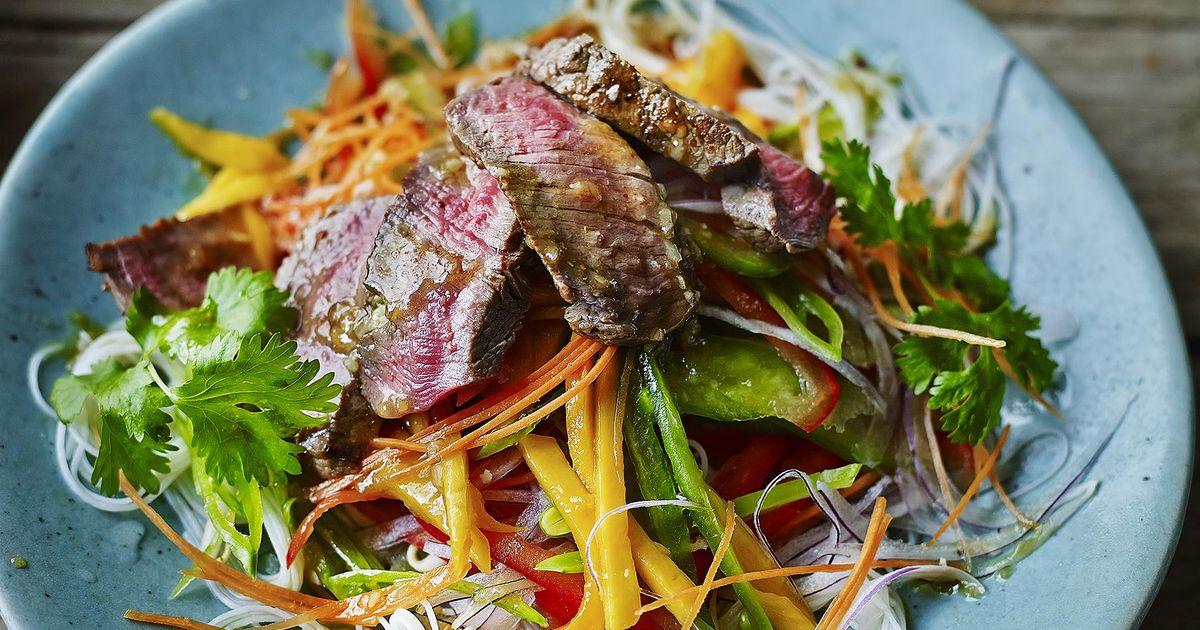 Asian Beef Salad with Mango Recipe