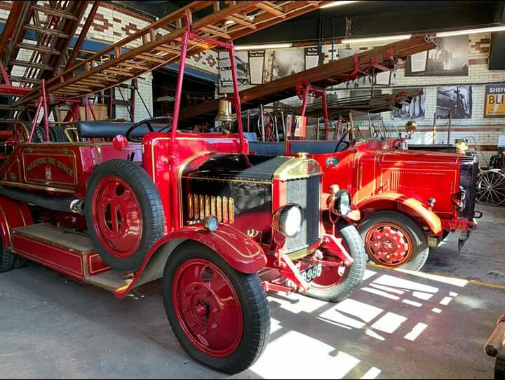 Victorian Fire engines on display at National Emergency Services Museum in Sheffield City Centre