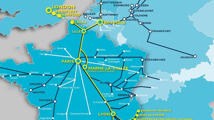 Destinations: Eurostar Map London To Paris At Infoasik.co