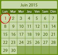 calendrier de naissance