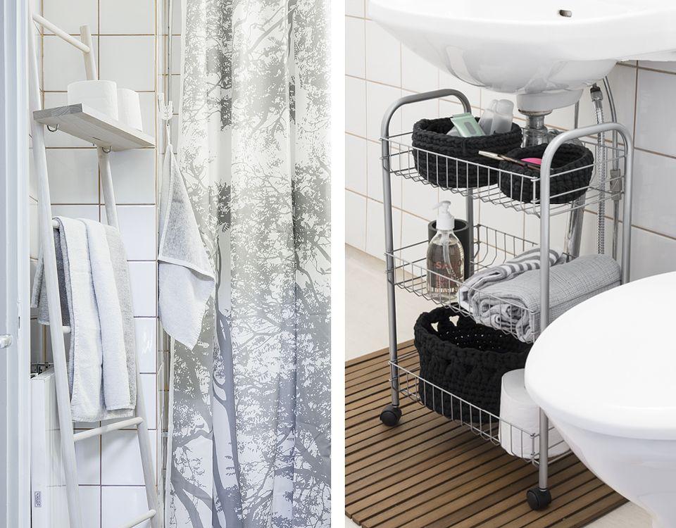 Pienen Kylpyhuoneen Säilytys