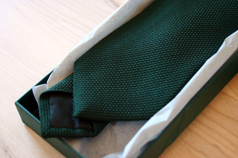 Green E. & G. Cappelli Fine Grenadine Tie