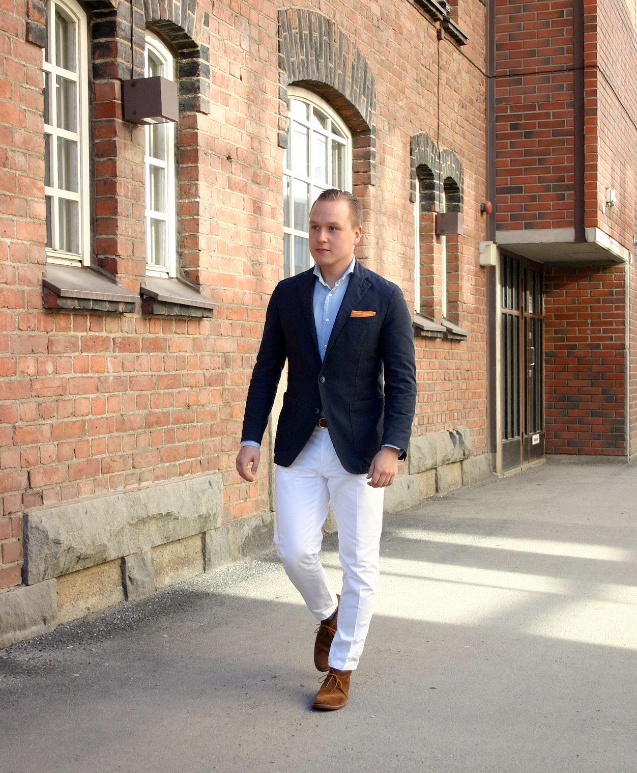 Chambray and Suede and Some Thoughts of How to Make it More Casual