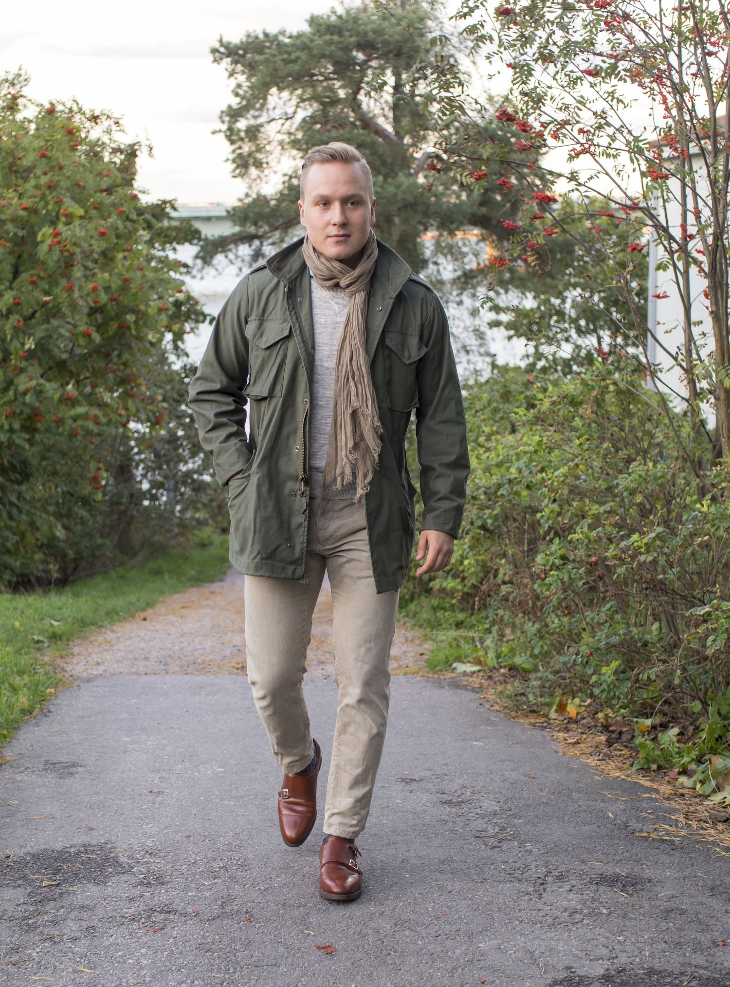 ... Equus Leather, trousers from Incotex Red, socks from Berg & Berg and