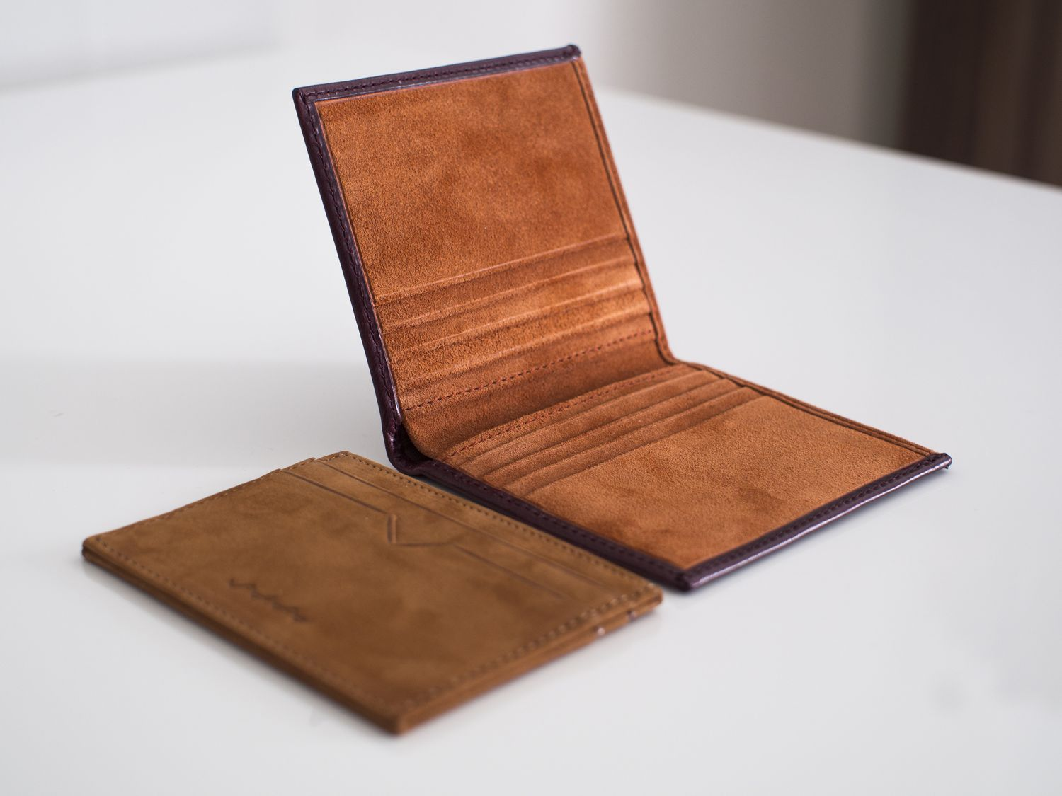 leather goods Leather • works sells handcrafted leather goods we specialize in wallets, keychains, coin purses, pouches, travel valet trays, pen sleeves and drink coasters.