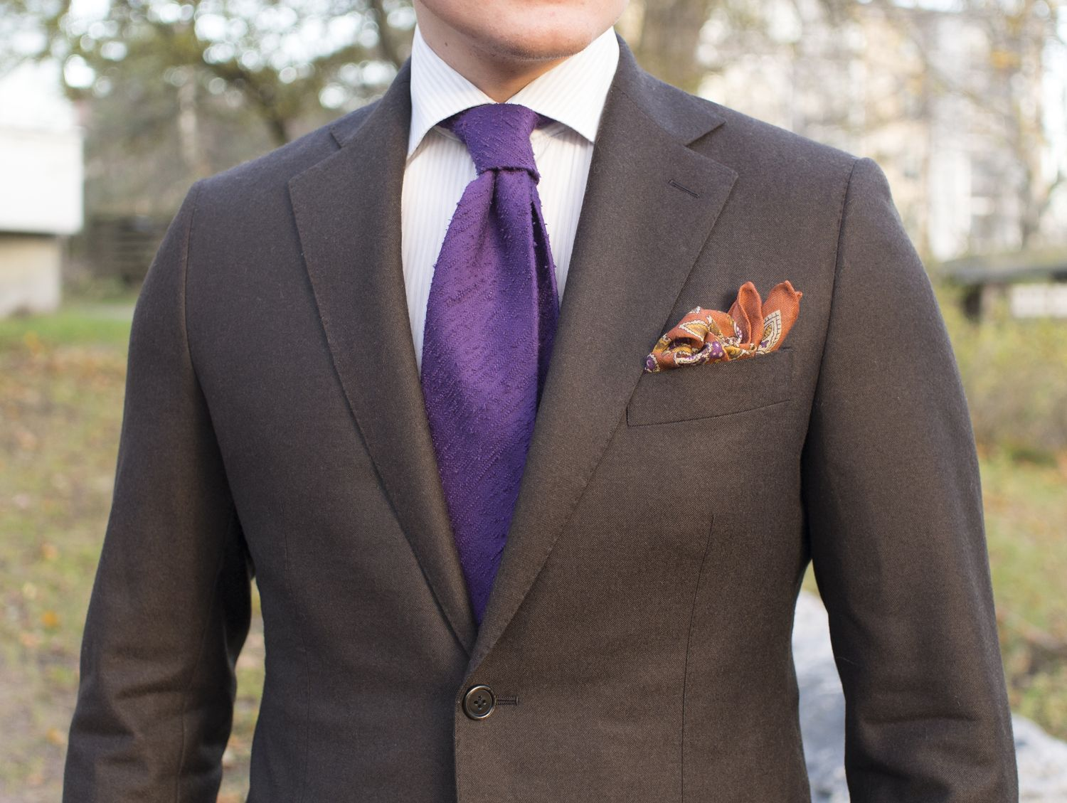 Brown Wool Flannel Suit - Vaatturiliike Sauma MTO