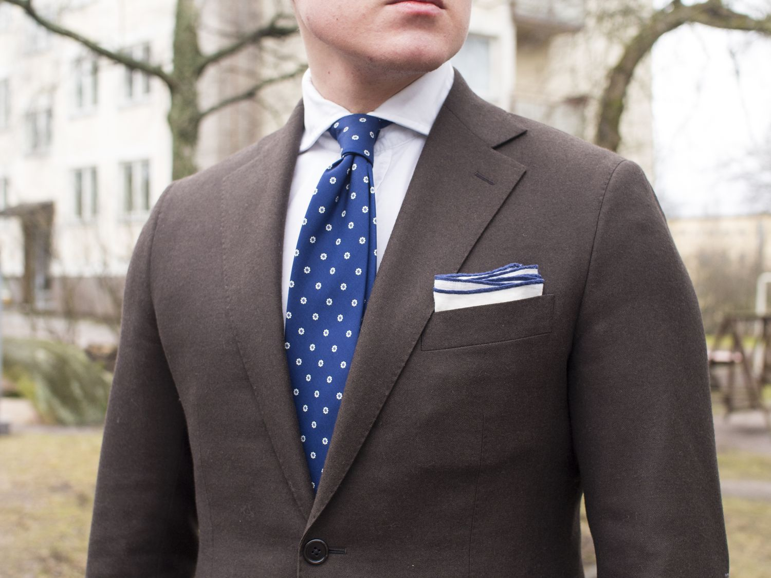 Brown Flannel Suit and Accessories