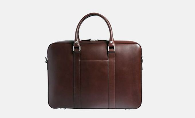 Mocha Soft Briefcase by Linjer.​