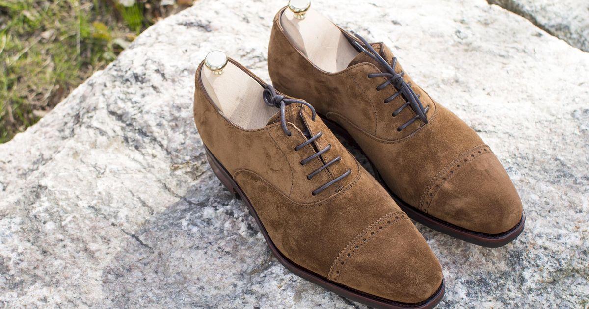 Carmina Rain Last Oxford Shoes - Suede