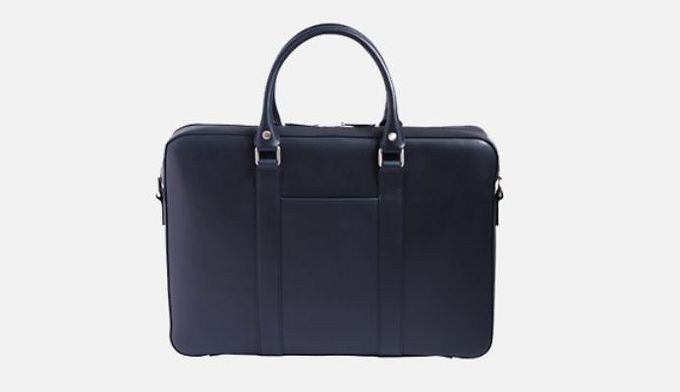 Navy Soft Briefcase by Linjer.​
