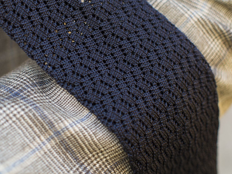 Wide Zig Zag Silk Knit Ties from Shibumi Berlin