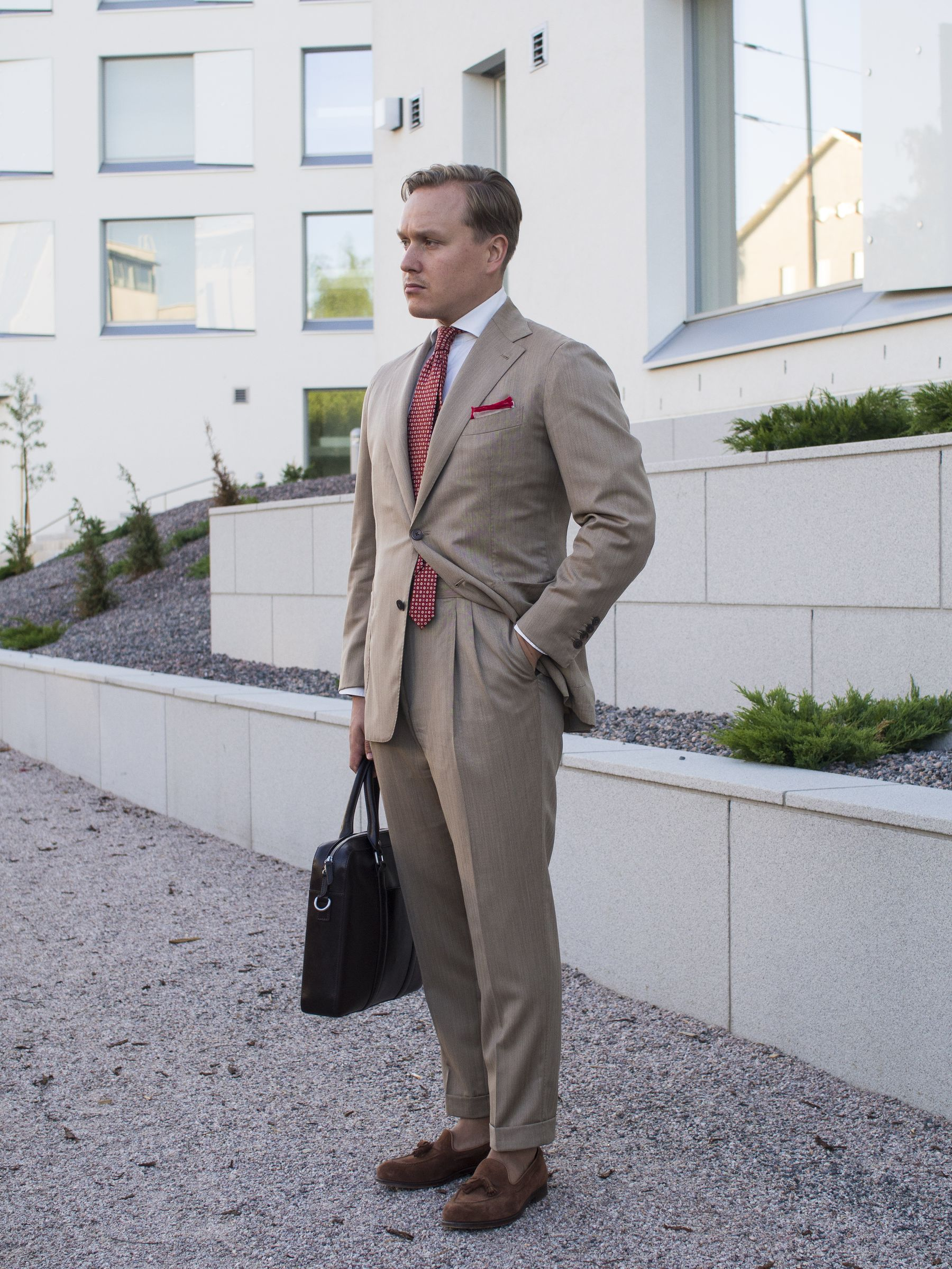 Ariston Solaro Fabric Summer Suit