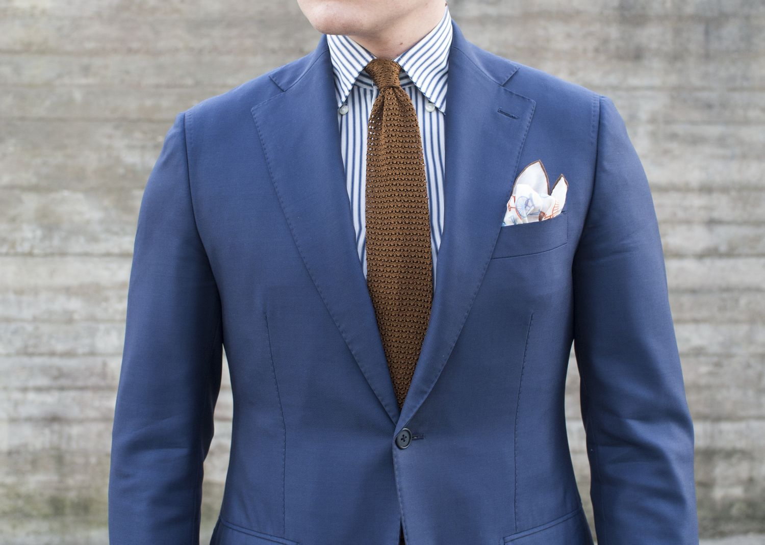 Dark Blue Suit for Summer