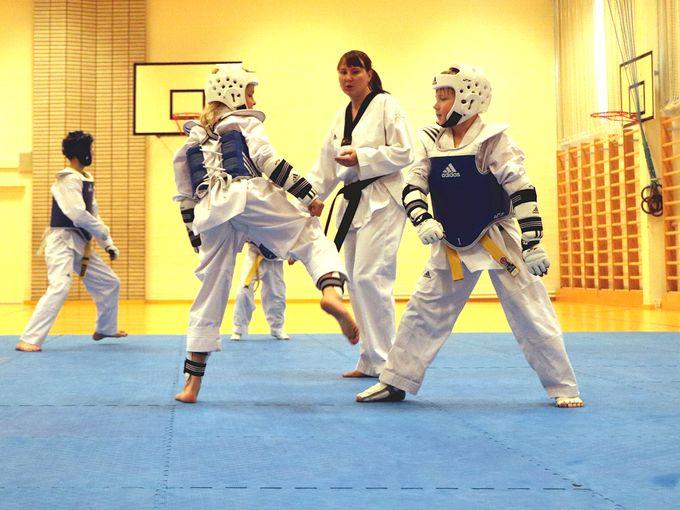 Kuva Mukwan Jyväskylän taekwondoharjoituksista