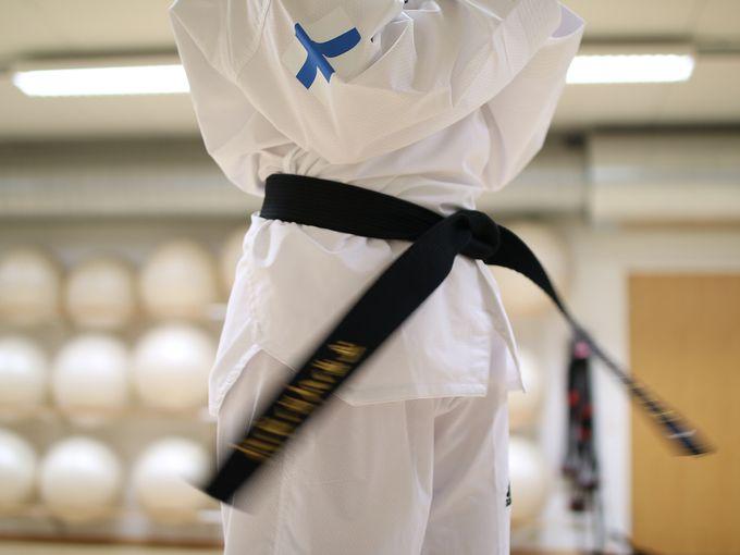 Taekwondotaidot testataan vyökokeissa.