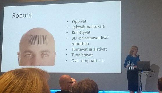 Robotiikka ja tulevaisuuden työelämä, Christina Andersson 26.9.2014