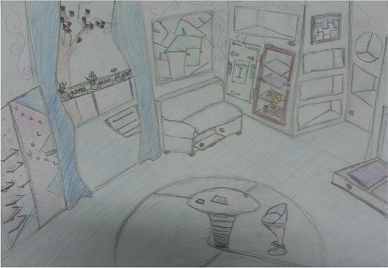 Ala-asteella olevan tytön näkemys siitä, minkälainen hänen kotinsa on tulevaisuudessa.