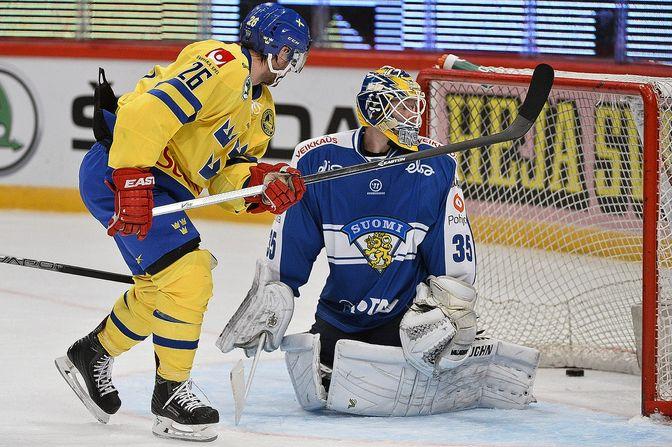 Suomen maalivahti Atte Engren keräsi 20 torjuntaa.
