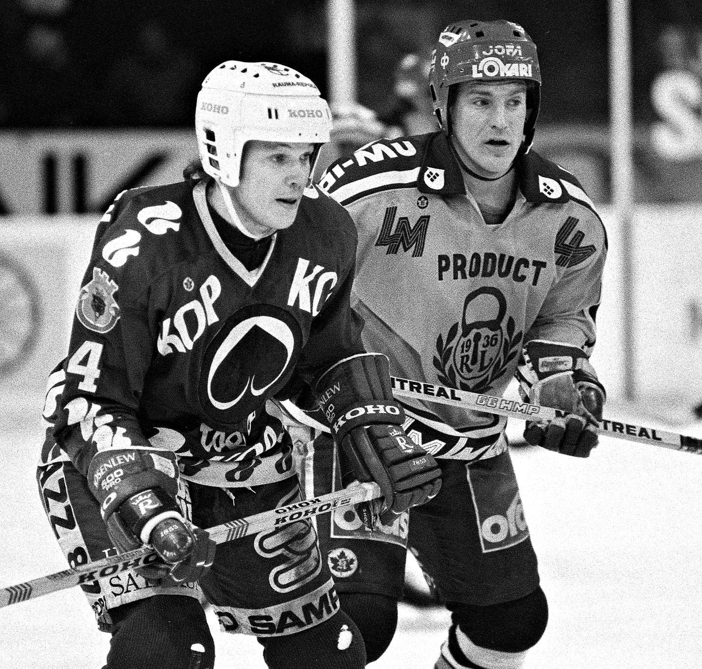 Paikallispelissä Arto Javanainen ja Jouni Peltonen.