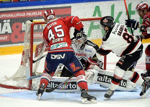 Juuso Riksman oli Ässissä huippumaalivahti jo kaudella 2005-06. Kuva: Mikko Stig.