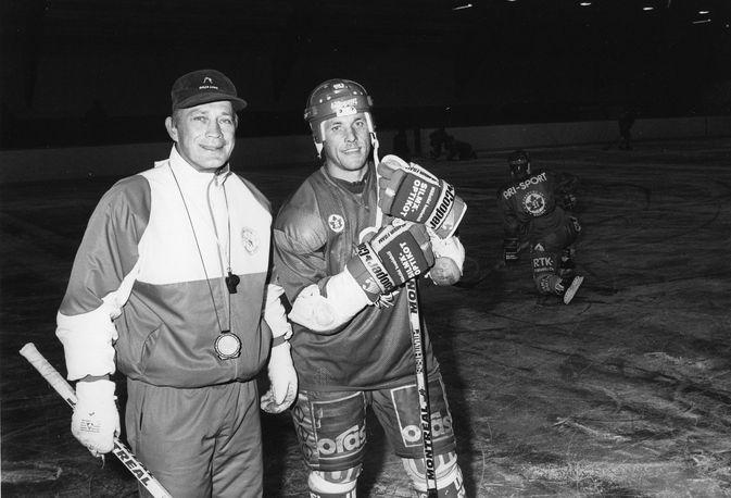 Päävalmentaja Matti Keinonen ja Jarmo Kuusisto Lukon treeneissä.