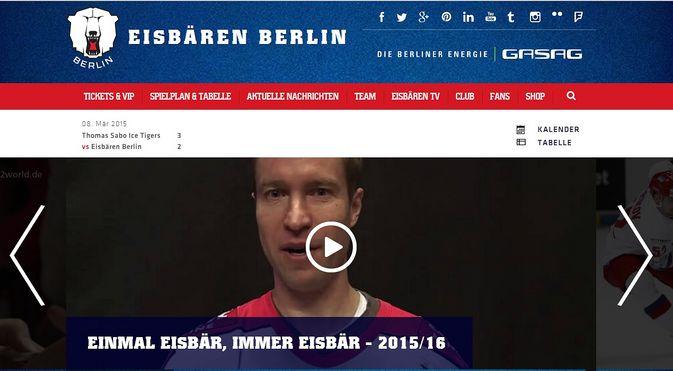 Petri Vehanen on näkyvästi esillä Eisbären Berlinin kotisivuilla, vaikka raumalaisvahdilla ei ole julkistettua sopimusta ensi kaudesta.
