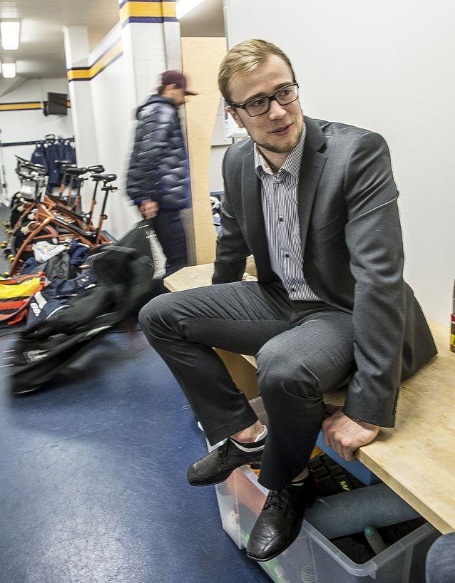 Juho Tommila on päässyt tositoimiin Lukon pakistossa. Kuva: Pekka Lehmuskallio.
