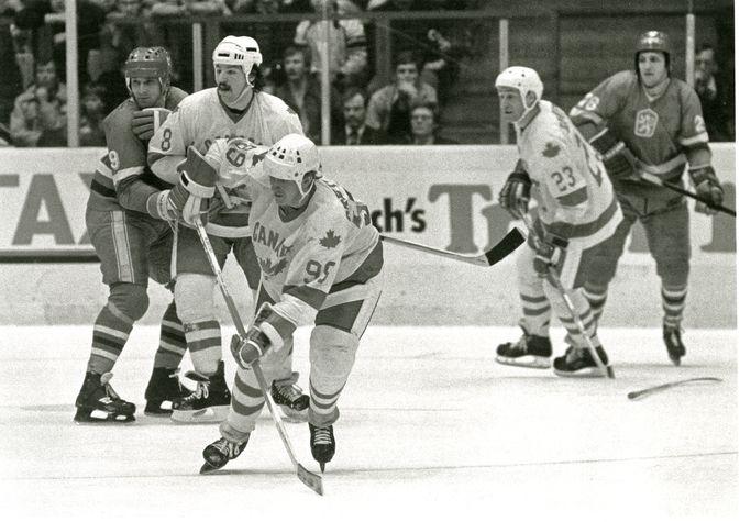 Wayne Gretzky MM-kisoissa Suomessa 1982.