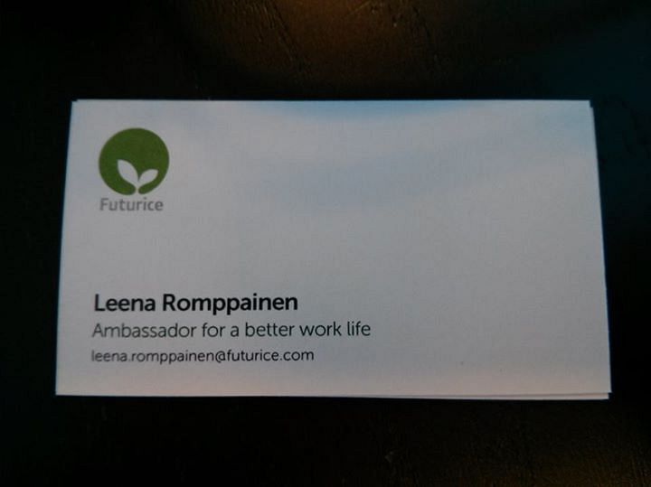 """A business card"" by Leena Romppainen can be reused under the CC BY license.​"