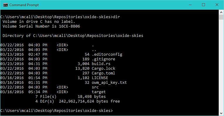 cmd.exe screenshot