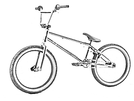 A picture of a BMX bike
