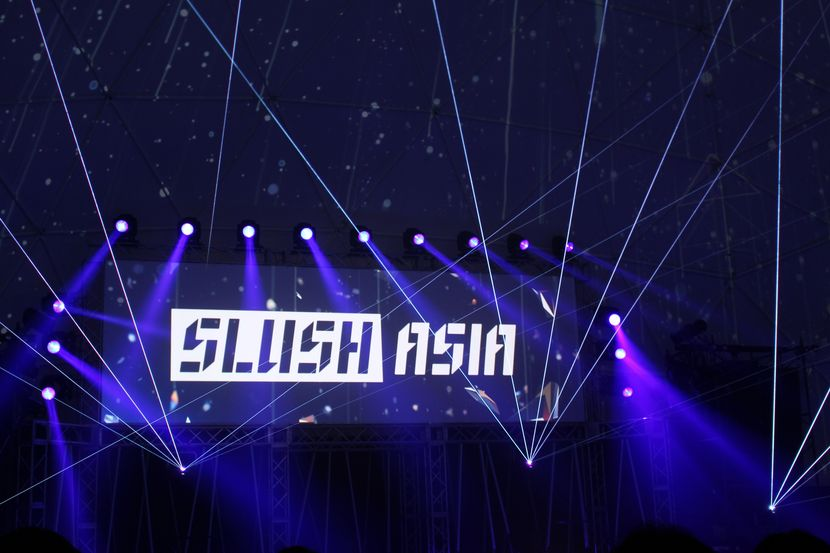 Slush Asia kicking off at the keynote stage.