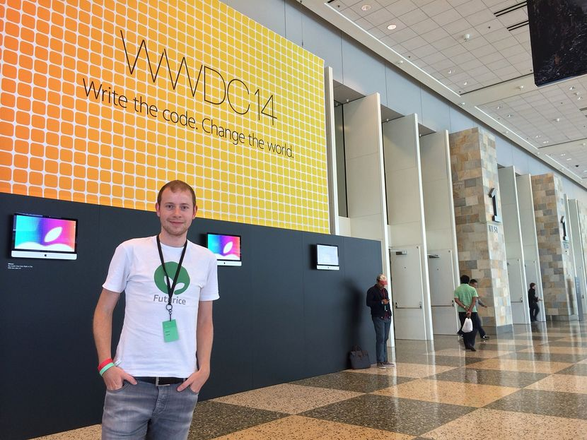 "Greetings from WWDC in sunny San Francisco! Apple truly made 2014 the ""Year of the iOS Developer"", releasing around 4000 new APIs and even a new programming language. That is good news for consumers and businesses too, who can expect a wealth of groundbreaking apps and services in the months and years to come. Futurice is proud to be at the spearhead in these exciting times!​"