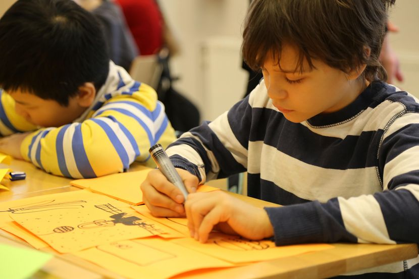 Young children have no barriers to their creativity​​
