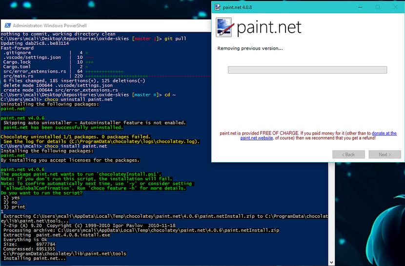 Installing Paint.NET screenshot