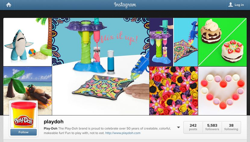 Play-Doh instagram​​​