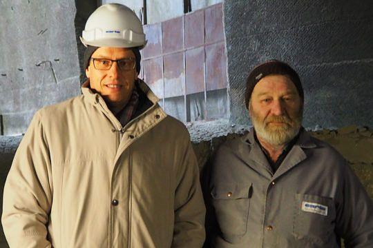 Carlo Bernasconi, Geschäftsführer Carlo Bernasconi AG und Toni Wittwer, Steinbrecher.