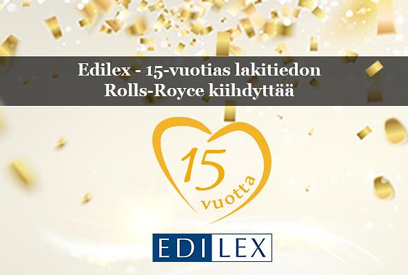 Edilex 15 vuotta