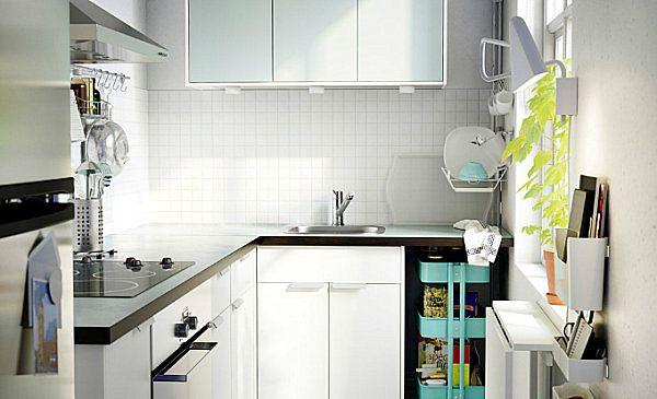 Litet Kok Smarta Losningar : har litet utrymme kan fo ett smidigt kok Det bevisar detta smarta