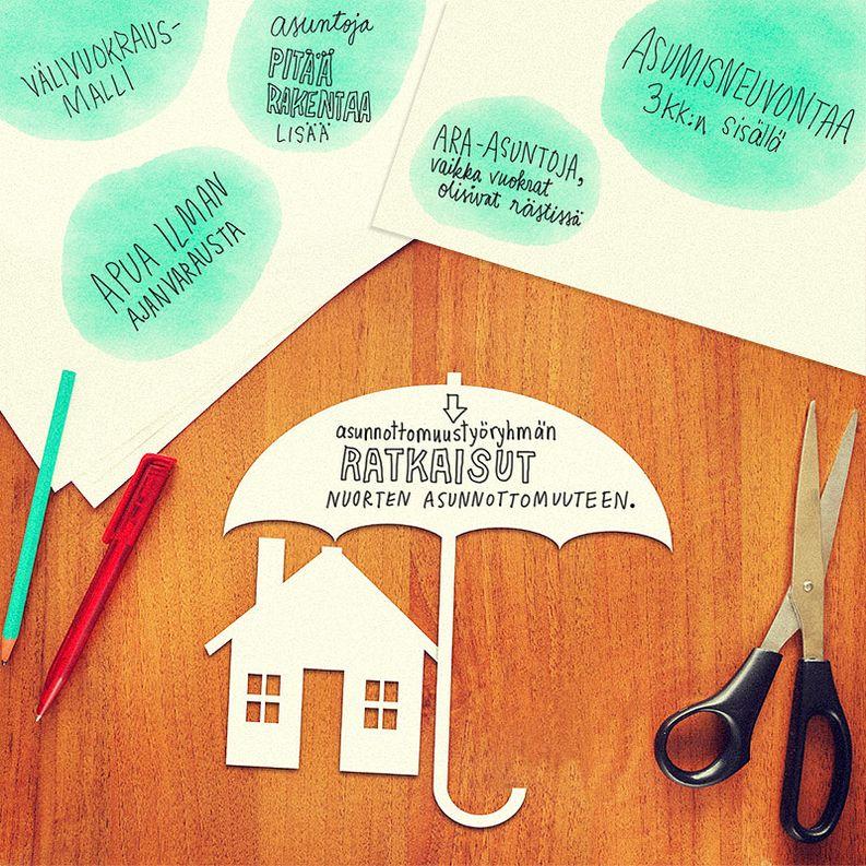 Pikatyöryhmän viisi ratkaisua nuorten asunnottomuuteen. Kuva: iStockphoto & Kioski