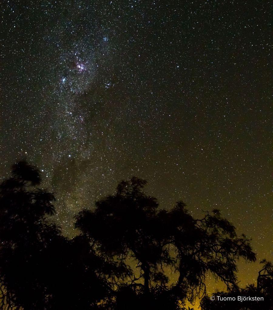 Tähtitaivas Afrikassa on ihmeellinen. Blyde River Canyon, Etelä-Afrikka 2015.