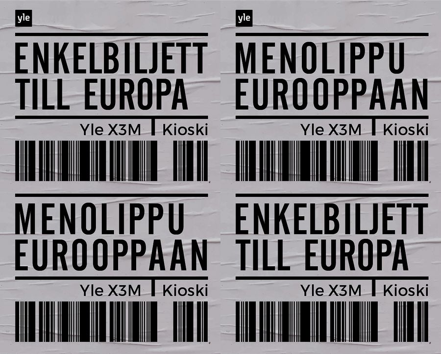 Yle X3M ja Kioski käynnistävät Menolippu Eurooppaan -projektin.