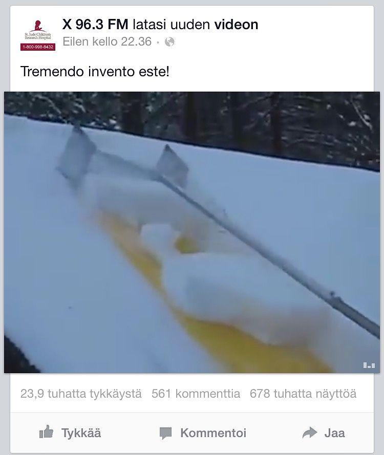 Kuvakaappaus Facebookista.