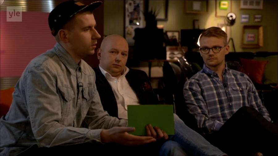 Perussuomalaisten Sebastian Tynkkynen, demareiden Joona Räsänen ja keskustan Teppo Säkkinen.
