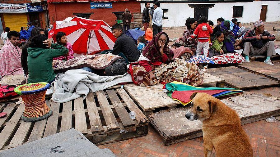 Nepalin pääkaupunki Katmandu järistyksen jälkeen. Kuva: Abir Abdullah / EPA