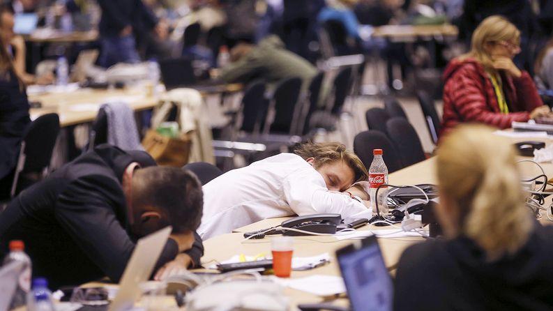 Kreikan kriisi ja siihen liittyvät neuvottelut ovat olleet väsyttävät. Kuva: EPA, Olivier Hoslet.