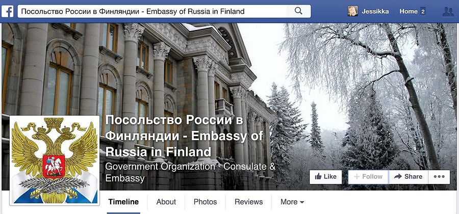 The Facebook page of the Russian Embassy in Finland shared a video link containing peculiar material. The Embassy deleted comments of Finns commenting on the link critically from its Facebook page.​