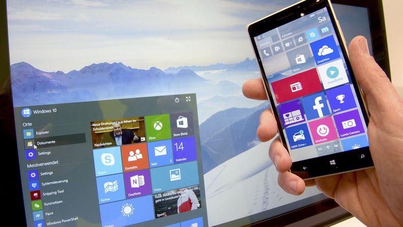 Windows 10 -käyttöjärjestelmä ilmestyy myöhemmin tänä vuonna. Kuva: EPA / Peter Steffen.